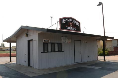 Roseville High School's snack bar on Hanson Field. RJUHSD set snack bar and playing field restroom renovations as the top priority item for the use of remaining Measure D funds.