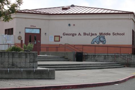 "Above, the administration building of Buljan Middle School, a feeder school for Roseville High. Students at Buljan will now be graded on a scale of ""beginning"", ""approaching"", ""proficient"" and ""mastery"" rather than a letter-based system."