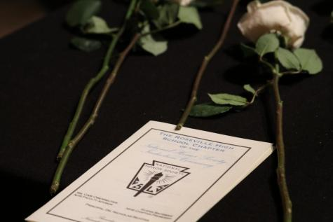 At the induction ceremony, students received a certificate and a rose and recited a pledge to the National Honors Society.