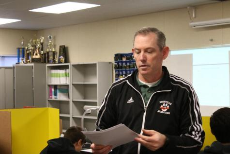 Math teacher Doug Ash in his integrated math classes. Doug will take on dual enrollment microeconomics next year and later a dual enrollment business program.