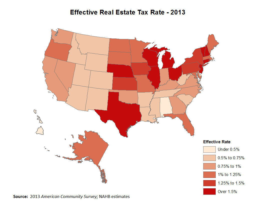 Top Posts Of 2014 Real Estate Taxes By State Eye On Housing