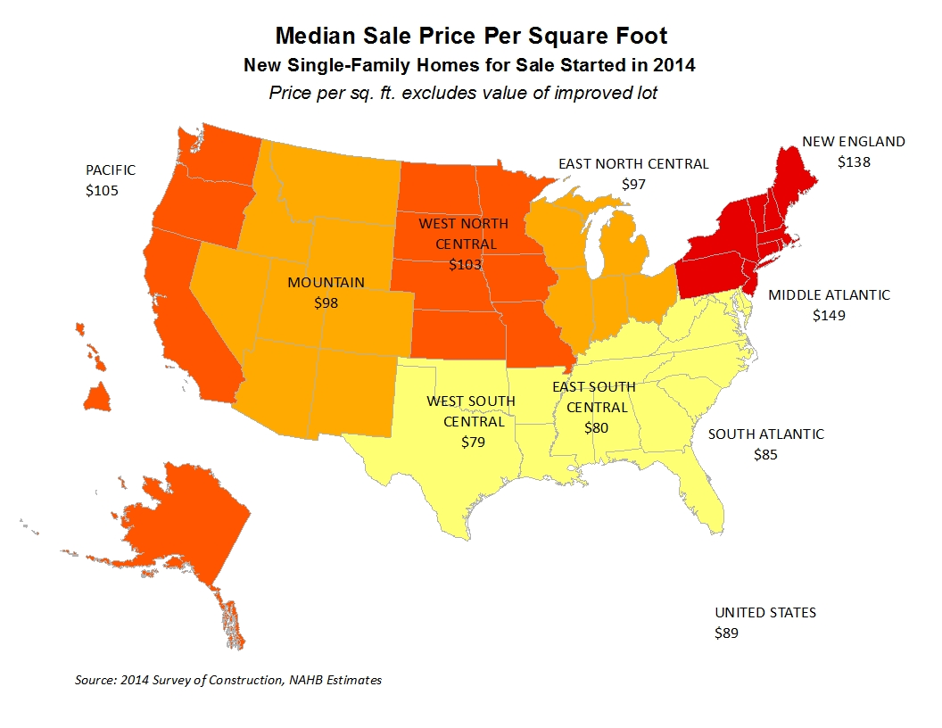 Sale and Contract Prices per Square Foot in 2014 | Eye On ...