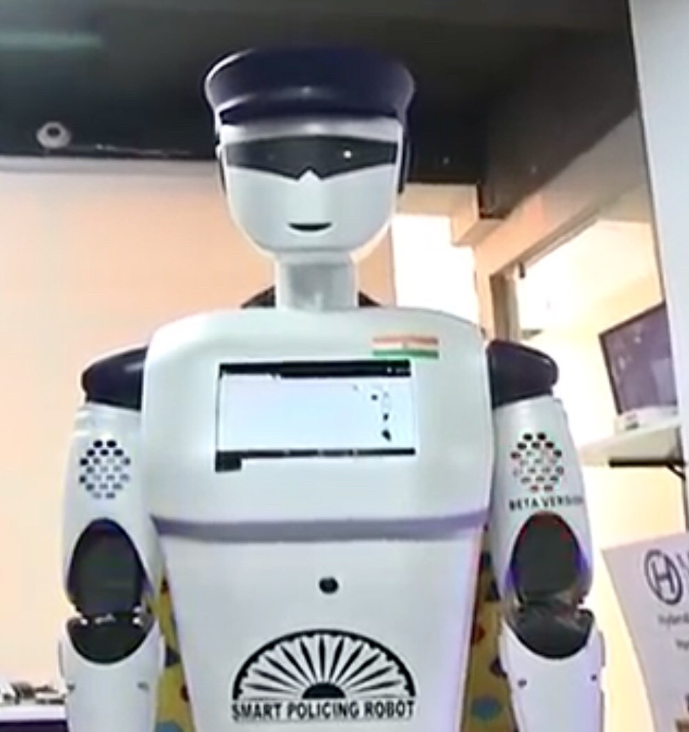 Smart Policing Robot to assist police in several provinces of India in July. Source: Youtube