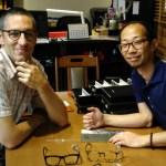 Visiting titanium and plastic eyeglasses design house