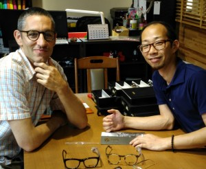 Visiting titanium and plastic eyeglasses design house