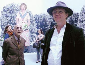 Gillo Dorfles and Robert Storr, The Italian Pavilion, Venice, 2007, Photograph courtesy of Corriere della Sera
