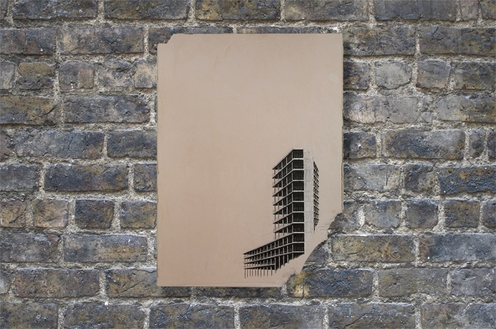 Andrew Brown, Collapse, 2012. Mixed Media (Image courtesy of Artfetch)