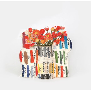 Betty Woodman, Color Sample Vase, Glazed earthenware, 2009 Image courtesy of Salon 94, New York