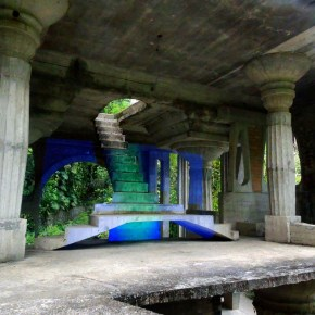 "Anne Katrine Senstad, ""Projections of the Surreal"", Site-specific video projection , installation at The Surreal Gardens in Xilitla, Mexico. Image courtesy of the artist, 2014"