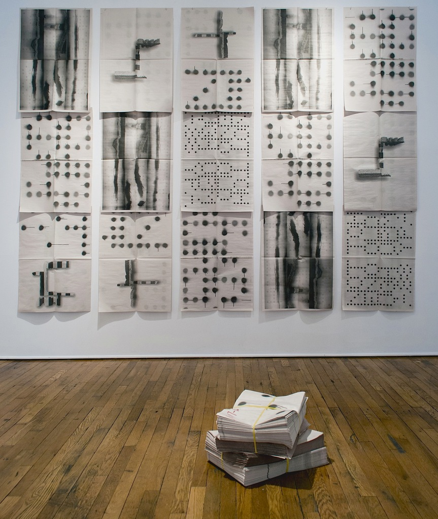 Todd Schroeder, Newspaper Project, Installation view at William Bustamente Gallery by Timothy Callaghan and Royden Watson, Cleveland, Ohio, Photograph by Bill Singer