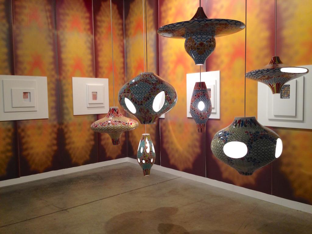 Jorge Pardo, Installation view at Galerie neugerriemschneider, Berlin, Art Basel Miami Beach, 2014, Photo by Katy Hamer