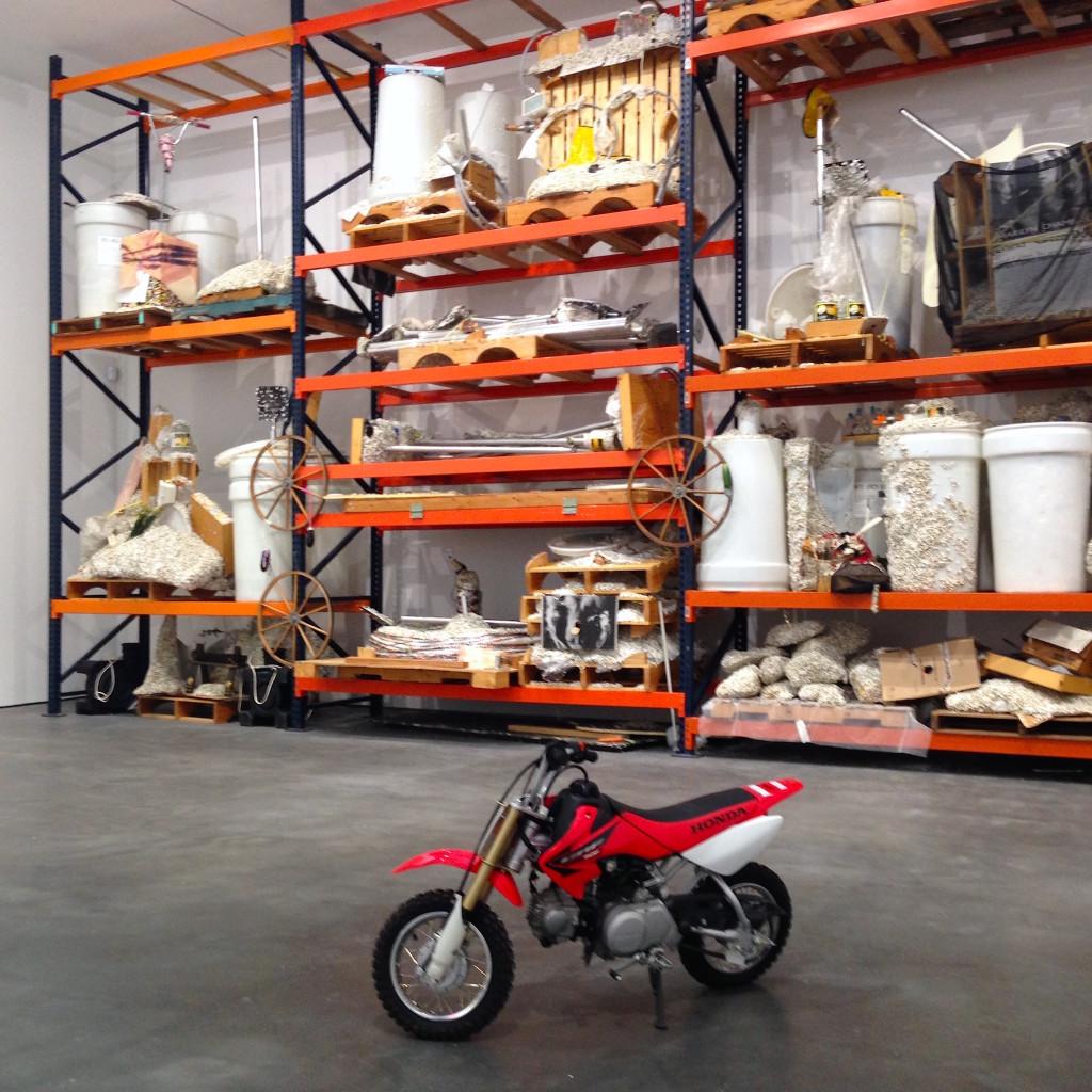 Jason Rhoades. Instalation view, David Zwirner, NY, Photograph by Katy Hamer, 2014