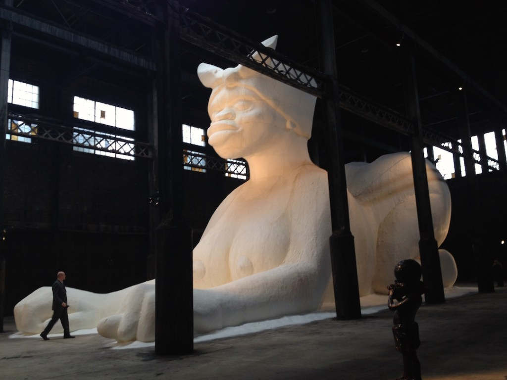 Kara Walker, A Subtlety or the Marvelous Sugar Baby, Domino Sugar Factory, Williamsburg, Brooklyn, Sponsored by Creative Time, Photograph by Katy Hamer, 2014