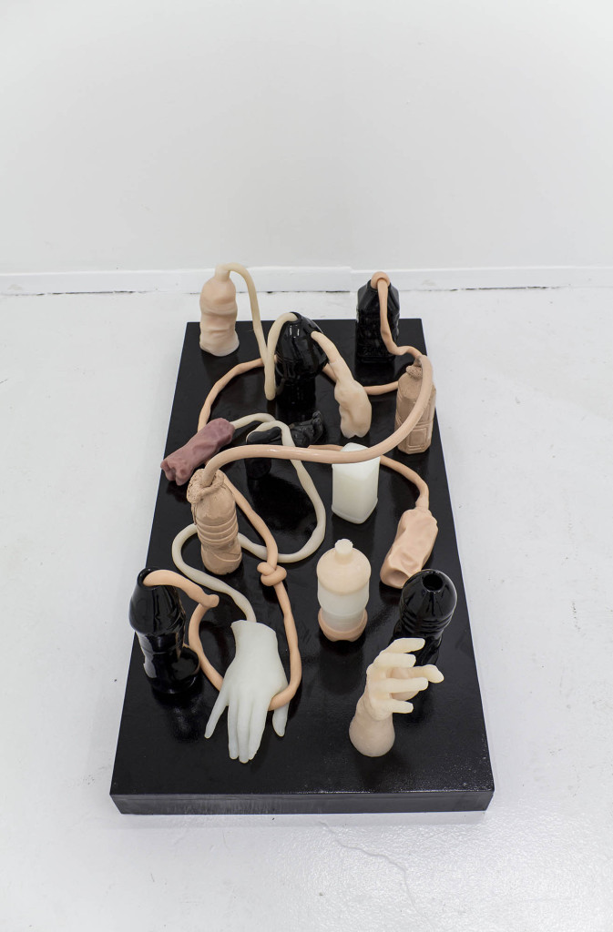 Phillip Birch, Tumorigenesis (Stage 1- Dyspeptic Desire Machines) Ceramic, silicone, urethane foam, MDF, Image courtesy of the artist