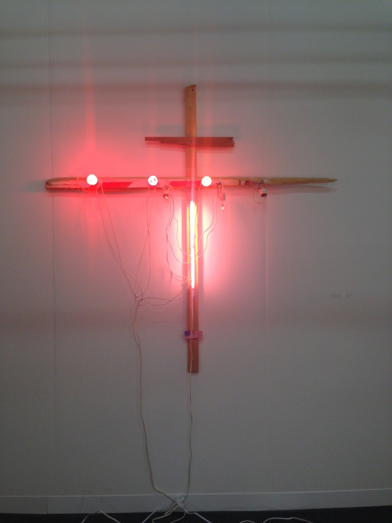 Alan Vega, Rouge, 2014, Mixed media, Galerie Laurent Godin, Paris, Photograph by Katy Hamer, The Armory Show, 2015