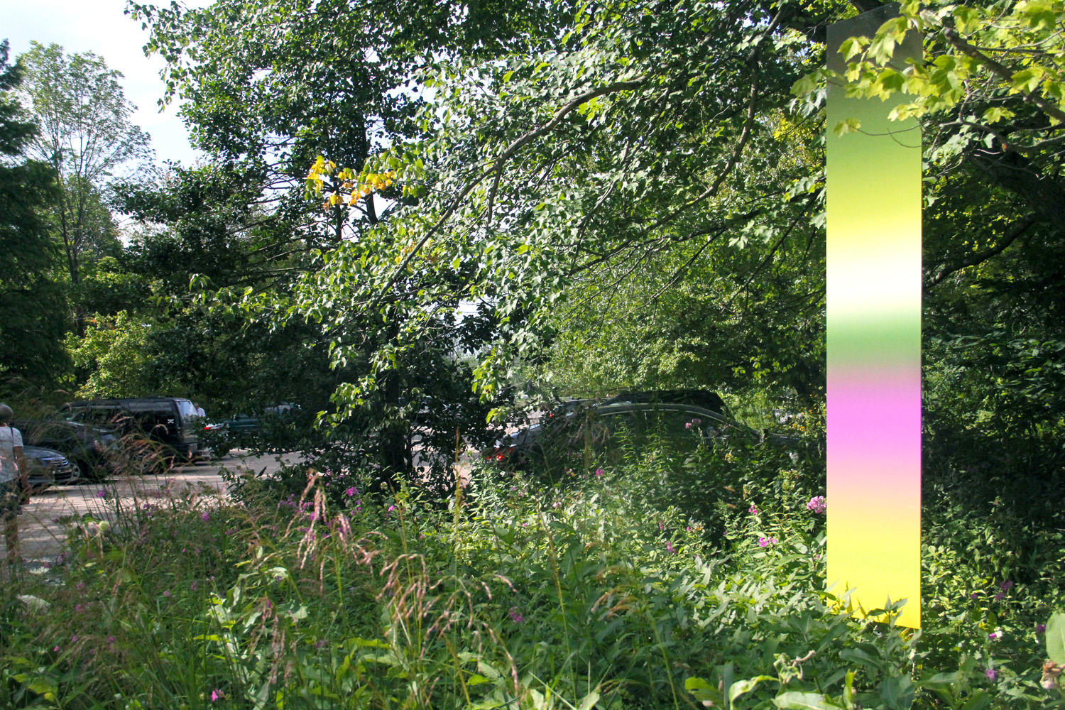 "James Welling, Site-specific ""Gradient"" on the property of the Brandywine River Museum of Art, Chadds Ford, PA, Photograph by Job Piston, 2015"