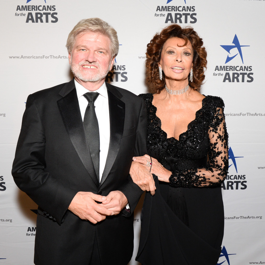 Bob Lynch & Sophia Loren, Americans for the Arts, Cipriani, NY, Photograph courtesy of BFA, 2015