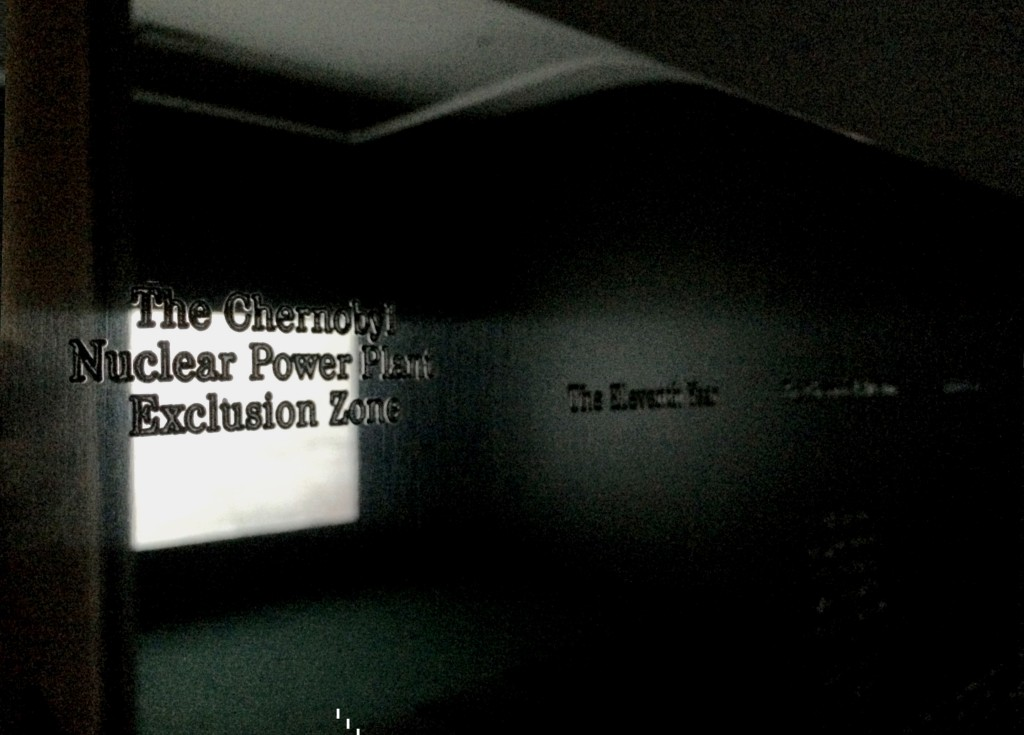 "Lina Selander, [Reflective] Plaque from ""Lenin's Lamp Glows In The Peasant's Hut"", Installation view at VOX, Montreal, Canada, Photo by Jongho Lee, 2015"
