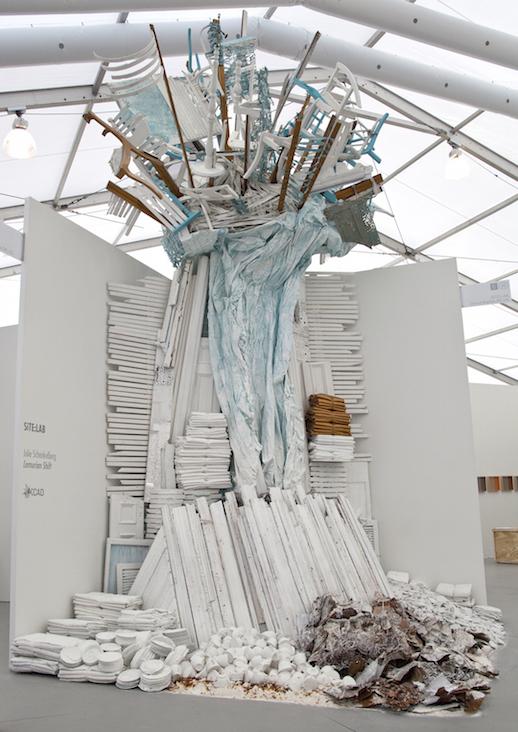 Site:Lab (Grand Rapids, USA) with Julie Schenkelberg Lumerian Shift, 2015 Found objects, Installation view Untitled Miami, Photograph byVanessaAlbury