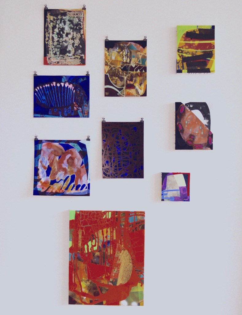 Erika Ranee, Studio installation view, Bushwick, Brooklyn, Various media