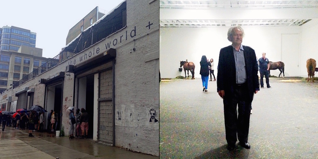 Jannis Kounellis at Gavin Brown Enterprise in Greenwich Village, NY, 2015, Photograph/s by Katy Hamer