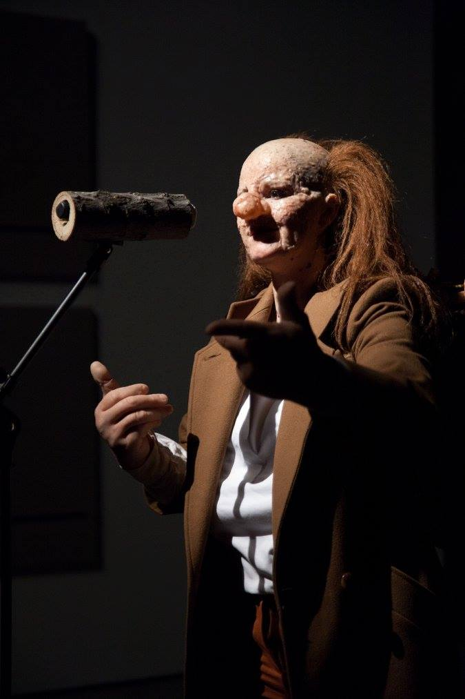 "Performance by Tori Wranes as part of ""The Eccentrics"" at the Sculpture Center, NY, Credit: Joanne O'Connor, Courtesy of Sculpture Center, 2016"