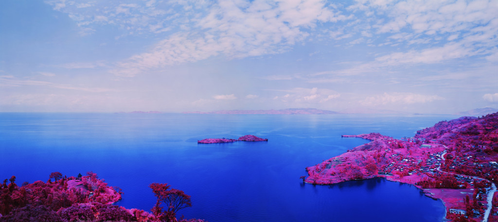 "Richard Mosse, ""Enjoy The Silence"" 2015, digital c-print, 50 x 112 3/8 inches (print size), 52 x 114 11/16 x 2 15/16 inches (framed) Edition of 5 Armory Show 2016, Photo courtesy of the artist and Jack Shainman Gallery, New York. ©Richard Mosse."