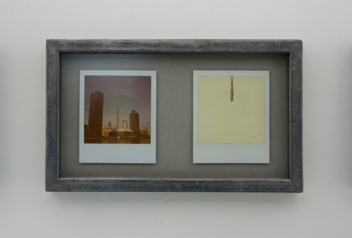 Gian Maria Tosatti, New York, 2011-2013, Polaroid film, lead frame, watercolor, Image courtesy of the artist