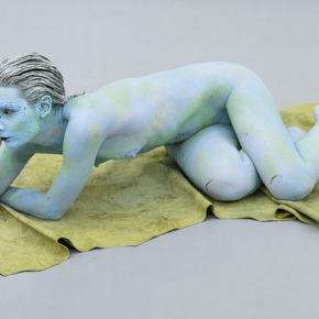 "Donna Huanca, Installation detail from ""Water Scars"" at Valentin, Paris, 2015"