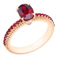 A Gorgeous Fluted Ruby Engagement Ring by Fabergé