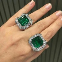 Gorgeous Emerald and Diamond Rings