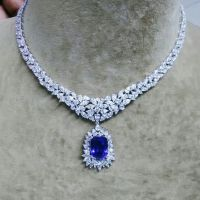 A Gorgeous Tanzanite and Diamond Necklace