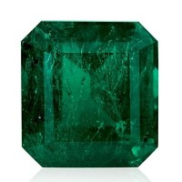 A Spectacular 18.85 Carats Green Emerald Loose Gemstone Emerald Cut