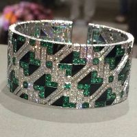 A Spectacular Emerald, Onyx, and Diamond Cuff Bracelet by Giampiero Bodino