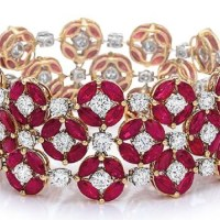 A Spectacular Ruby and Diamond Bracelet
