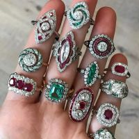 Gorgeous Ruby and Emerald Diamond Rings