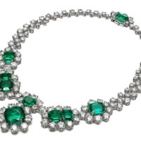 Exquisite Emerald and Diamond Necklace by Bayco Jewelry