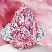 12.02 Ct Pear Shape Pink Diamond Ring