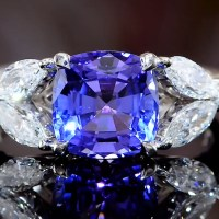 An Exquisite Tanzanite and Diamond Ring