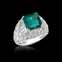 Picchiotti Emerald and Diamond Ring