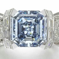 A Gorgeous Blue Diamond Ring