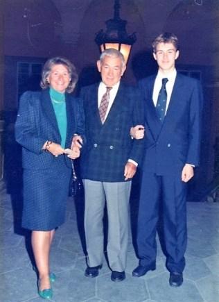 Isacco e Inge il giorno della Laurea del figlio Ruben il 7 novembre 1989