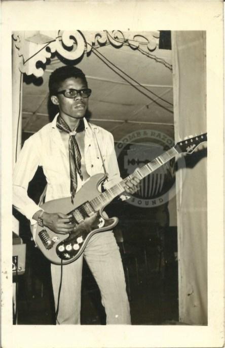Berkley Jones Ike, lead guitarist of the Funkees Soul (Enugu 1970)