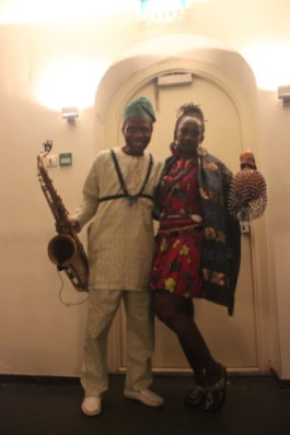 Orlando Julius and Latoya Aduke Ekemode with the Heliocentrics at the Paradiso Amsterdam 2016- Photo by Eyes of a Lagos Boy