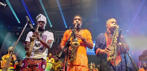 Seun, Made and Femi Anikulapo Kuti, Closing Felabration 2020 - Photo by Eyes of a Lagos Boy