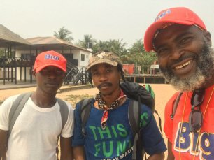 Some friends Kene Watu and Friday are on the hike with Akintunde Disu