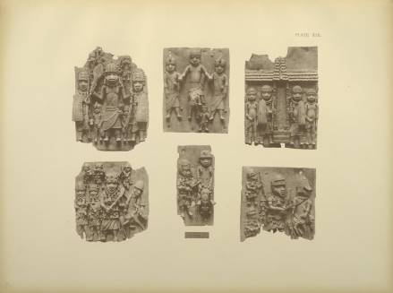 Bronze plaques from Benin in the British Museum - Courtesy Aberdeen University