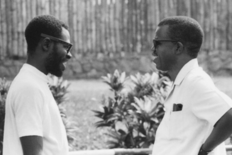 Film producer Francis Oladele and writer Chinua Achebe Nigeria 1970 - Stephen Goldblatt
