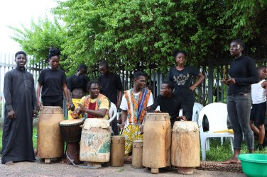 Members of Feetprint Afrika entertaining the audience at Greener Pastures opening - Photos by Babs Aremu