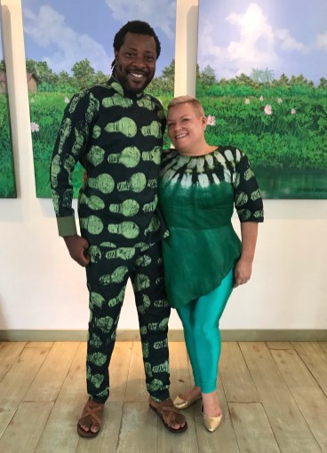 Bolaji Alonge and wife Sandra